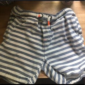 Mini Boden striped shorts